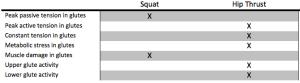 Squat:Hip Thrust